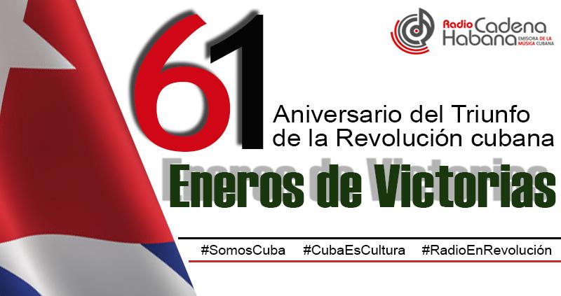 Logo del aniversario 61 delTriunfo de la Revolución